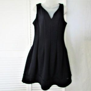 Calvin Klein navy v neck dress size 10